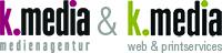 k.media- Ihre Full-Service-Werbeagentur aus Aichach Logo